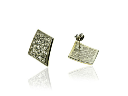 Earrings Vesuvio White