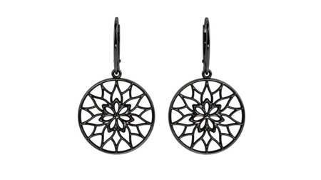 Earrings Yorkshire Black