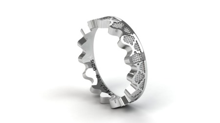 Ring Crown Silber